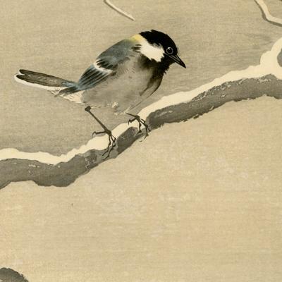 Ohara Koson (Shoson) - Snow on willow bridge - Ukiyo-e - Ukiyoe Gallery SHUKADO