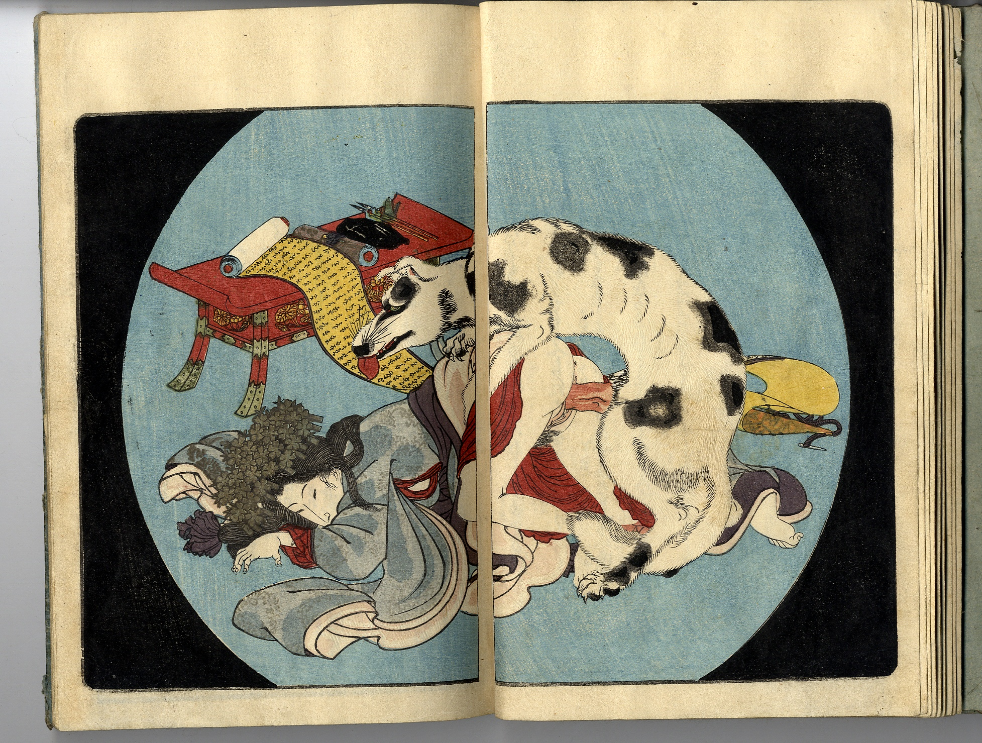 Toyokuni Iii Kunisada Koi No Yatsu Fuji Set Of Three